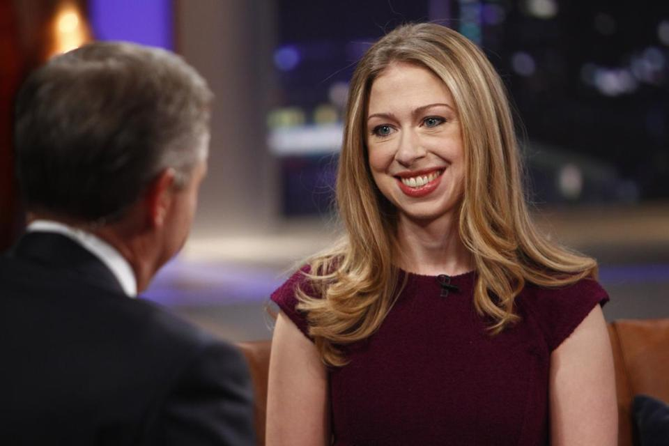 Chelsea Clinton with NBC host Brian Williams in 2011.