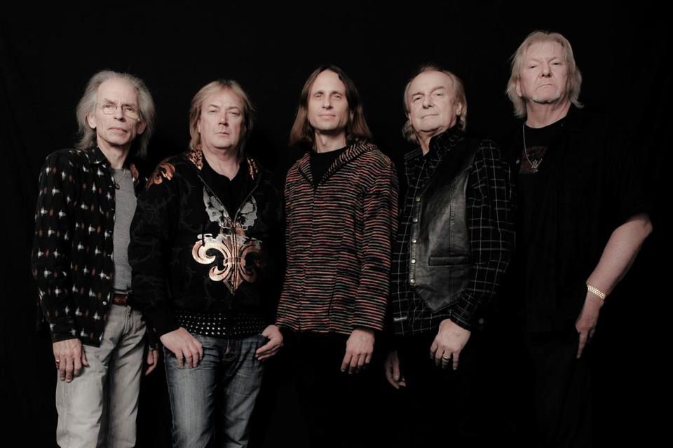 """We're quite happy where we are, but we can't please everybody all the time,"" guitarist Steve Howe (left) says of the current version of Yes."