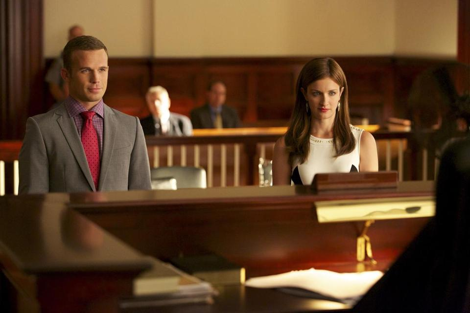 """Reckless"" stars Cam Gigandet as assistant district attorney Roy Rayder and Anna Wood as defense attorney Jamie Sawyer."