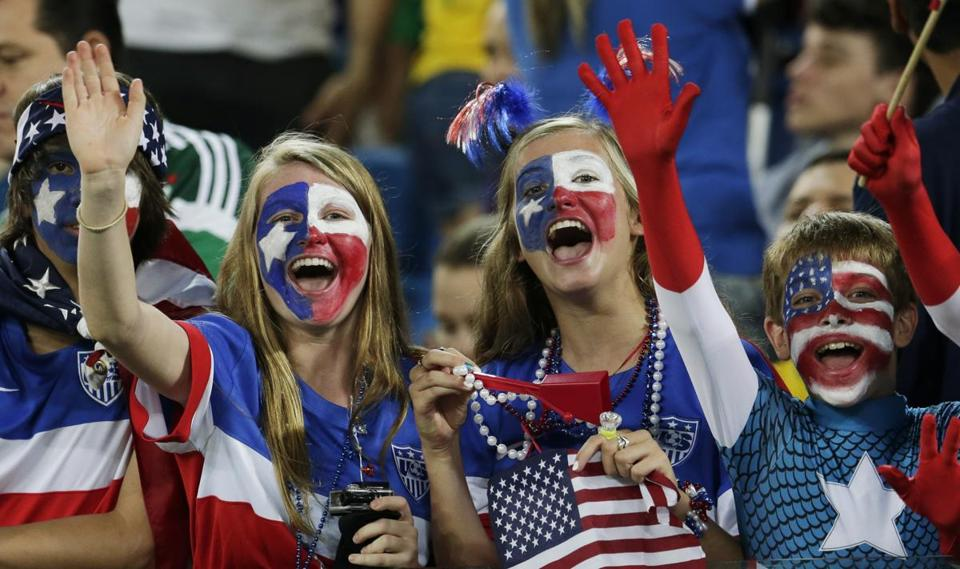 American fans cheered for their team before the US-Ghana game.