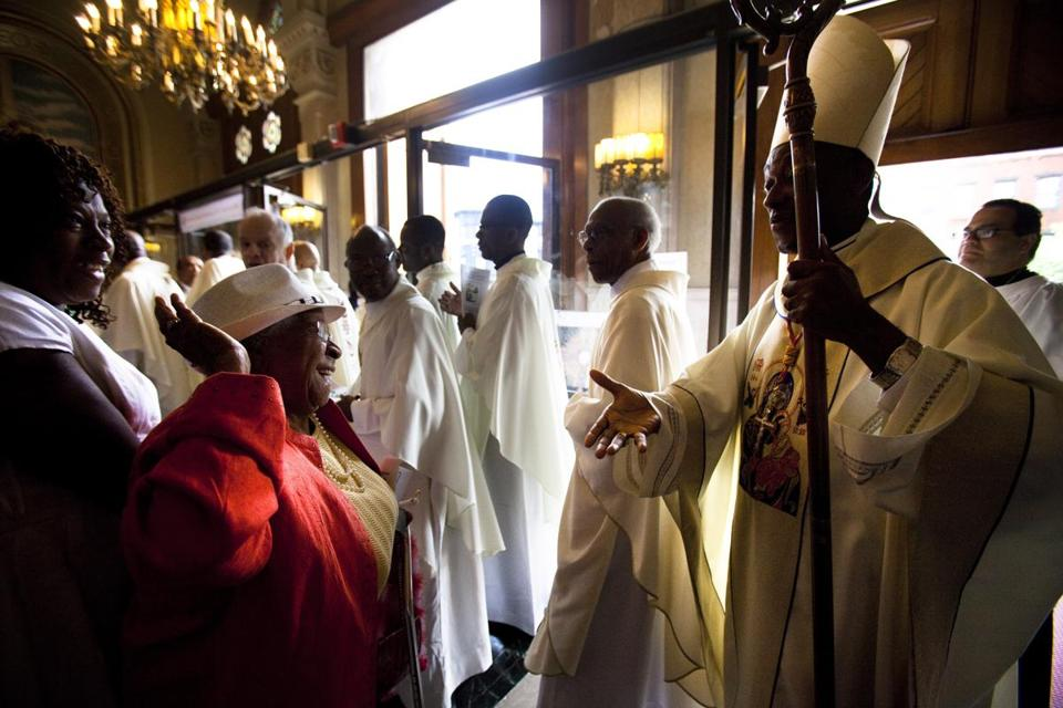 Cardinal's visit cheers Haitian faithful in Boston