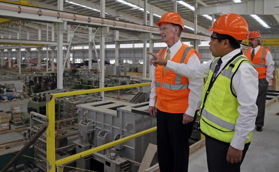 Governor Robert Bentley toured a plant being built by Golden Dragon with company president Roger Zhang. It's the first company Bentley recruited after taking office.