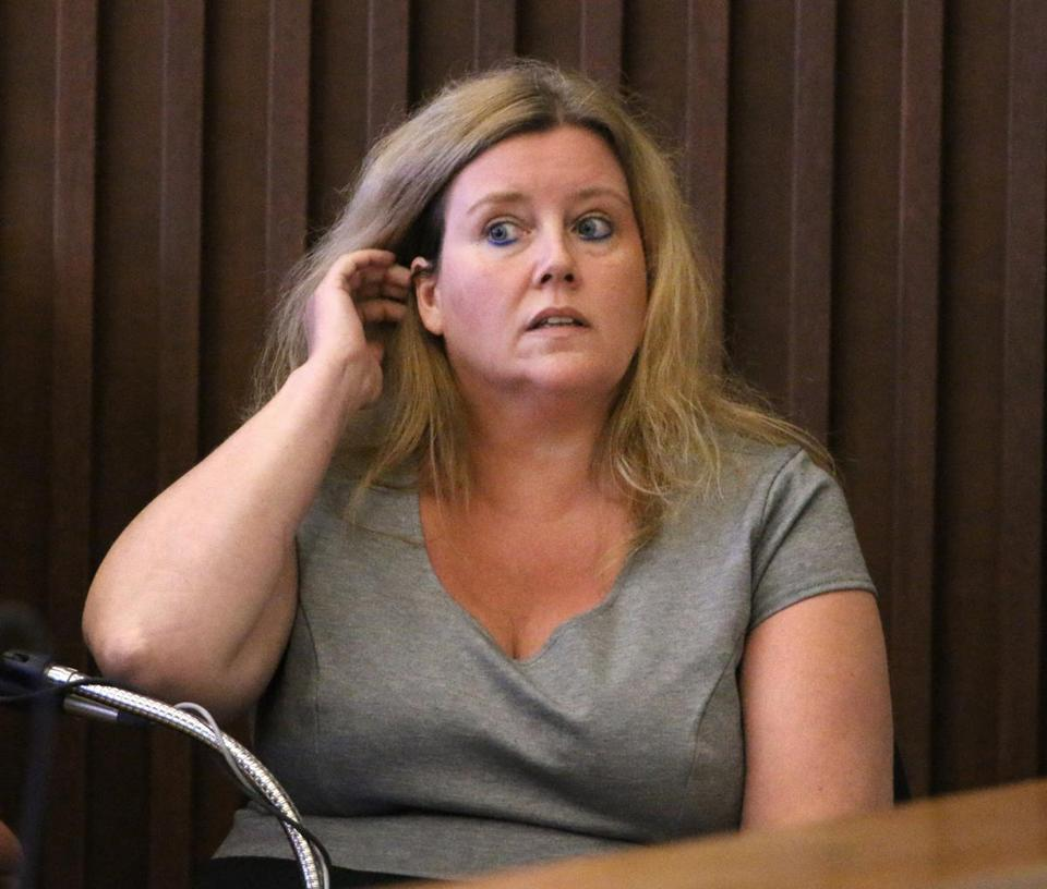 Lisa Greenwaldt, an investigator with the N.H. Public Defenders Office, testified during the trial of Seth Mazzaglia on Monday.