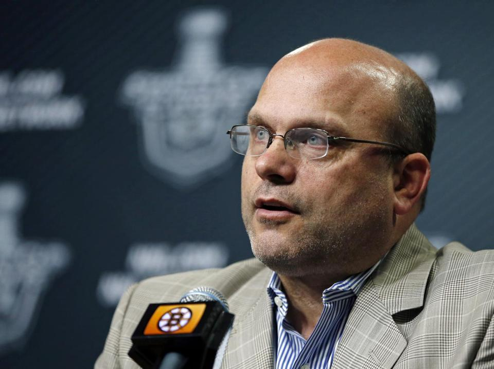 Peter Chiarelli has the 25th pick in the first round. AP Photo/Elise Amendola