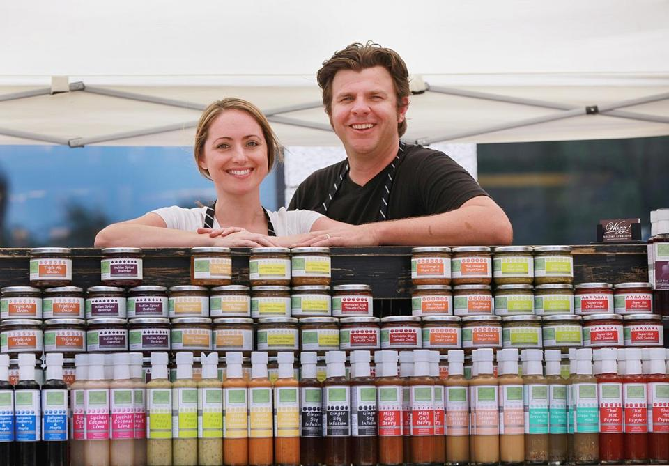 Ashley Thompson  and Warrick Dowsett, owners of Wozz! Kitchen Creations.