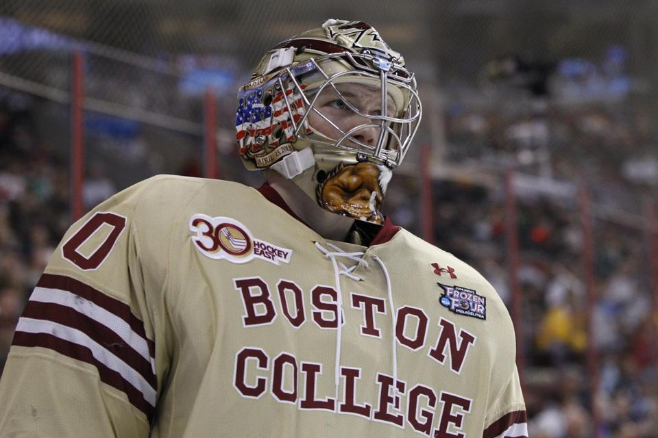 As strong a netminder as Thatcher Demko is at Boston College, being ready for the NHL can be a long process.