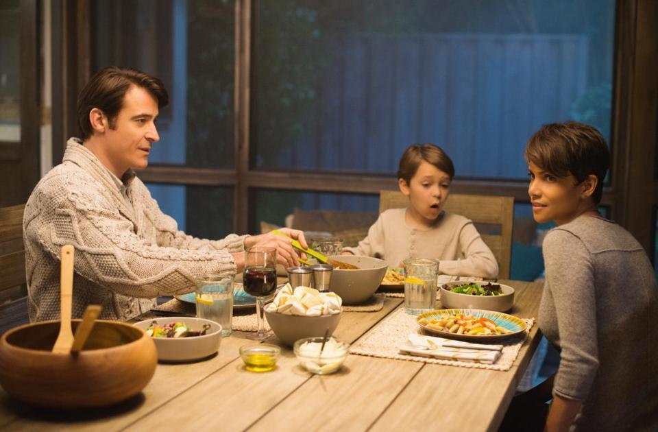 "From left: Goran Visnjic, Pierce Gagnon, and Halle Berry in the CBS sci-fi drama ""Extant."""