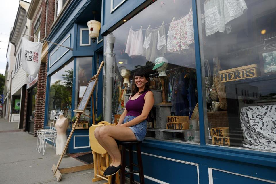 Stella Corso said her shop, Pale Circus, is holding its own, but she recently took a job as a bartender to be on the safe side.