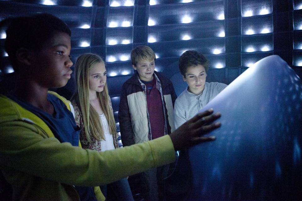 "From left: Brian Bradley, Ella Linnea Wahlestedt, Reese Hartwig, and Teo Halm  in ""Echo."""
