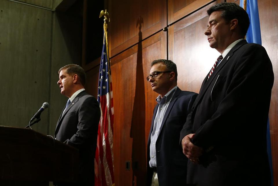 Mayor Martin J. Walsh (left) said deciding on a casino plan before the elections could mean a waste of time and money.