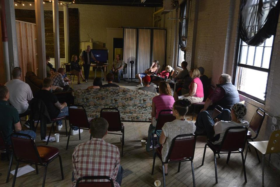 A session was held in June at Grace Street Services, a substance-abuse treatment center in Maine.