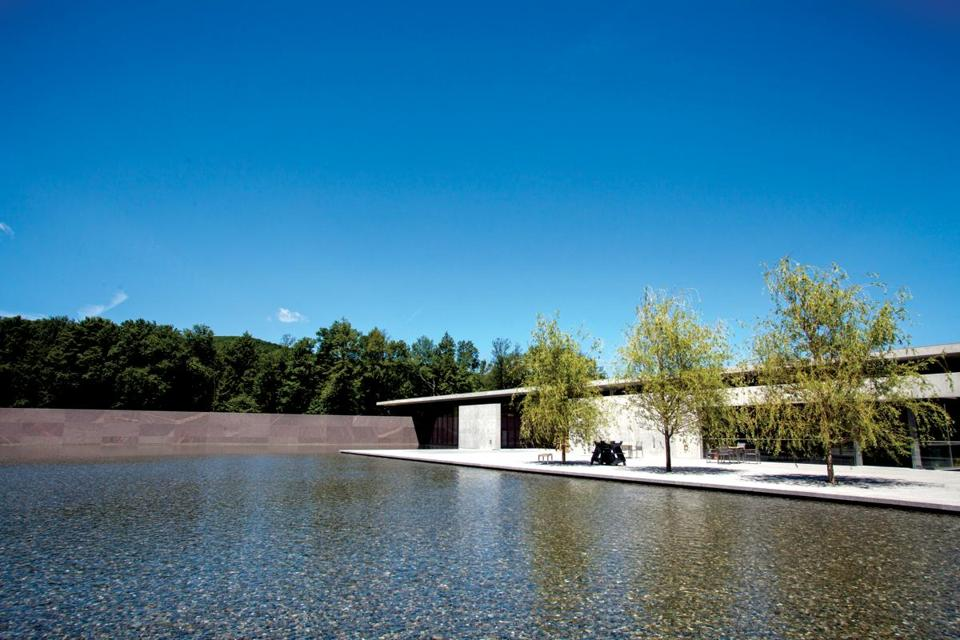 Tadao Ando's Visitor Center at the Clark Institute reflects the architect's love of concrete and water.