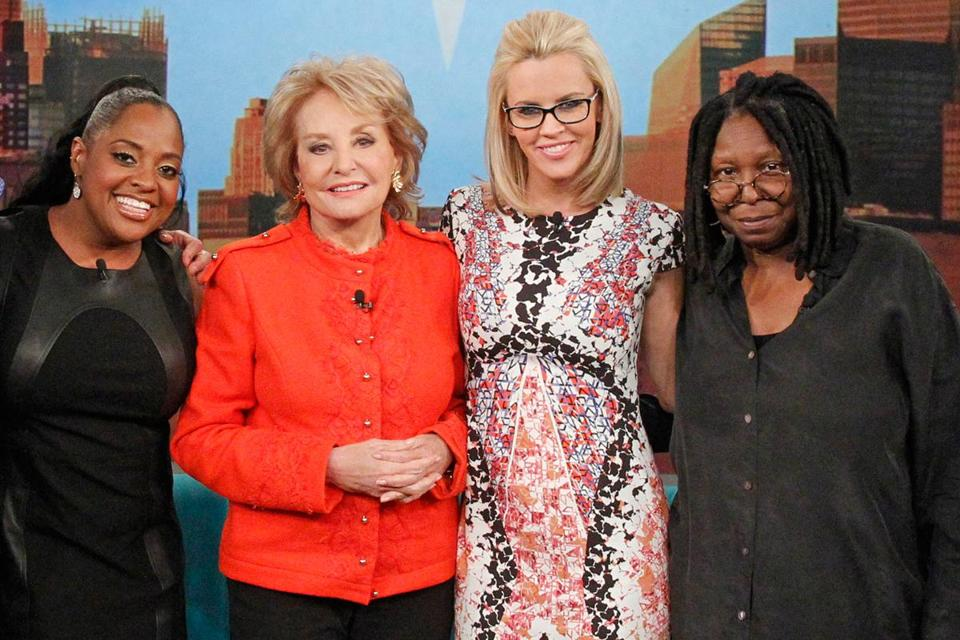 "(From left) Sherri Shepherd, Barbara Walters, Jenny McCarthy, and Whoopi Goldberg, on ""The View."""
