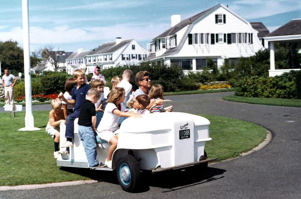 This photo of John F. Kennedy, taken during a weekend at Hyannis Port in 1962, is part of his museum's new display.