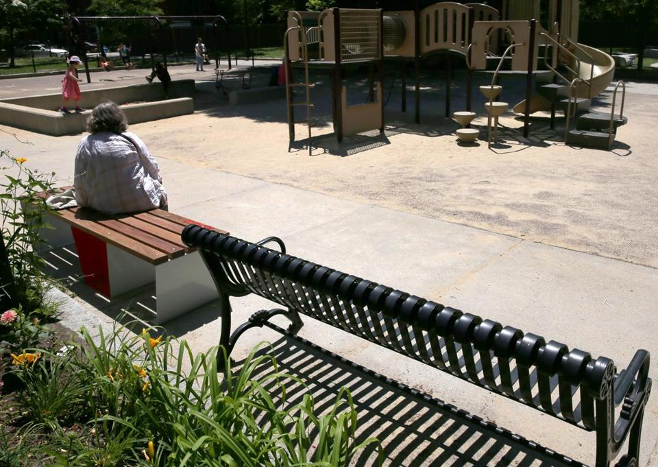 "A solar-powered ""Soofa"" bench has been installed in Titus Sparrow Park in the South End."
