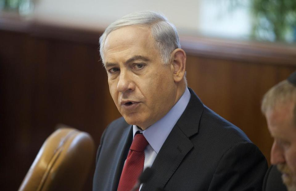 Israeli Prime Minister Benjamin Netanyahu spoke during a weekly cabinet meeting in Jerusalem Sunday.