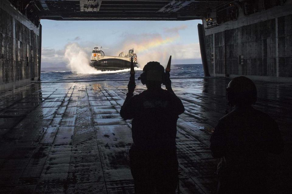 The Navy ship USS Peleliu is en route to Hawaii to participate in Rim of the Pacific exercise 2014.