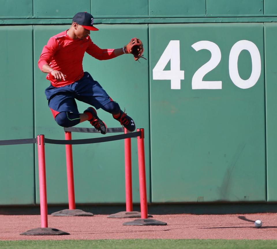 Mookie Betts made his Fenway Park debut last season on June 30 against the Cubs.