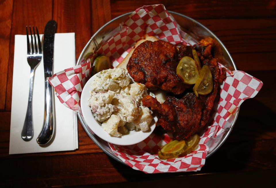 Hot chicken at Loretta's.