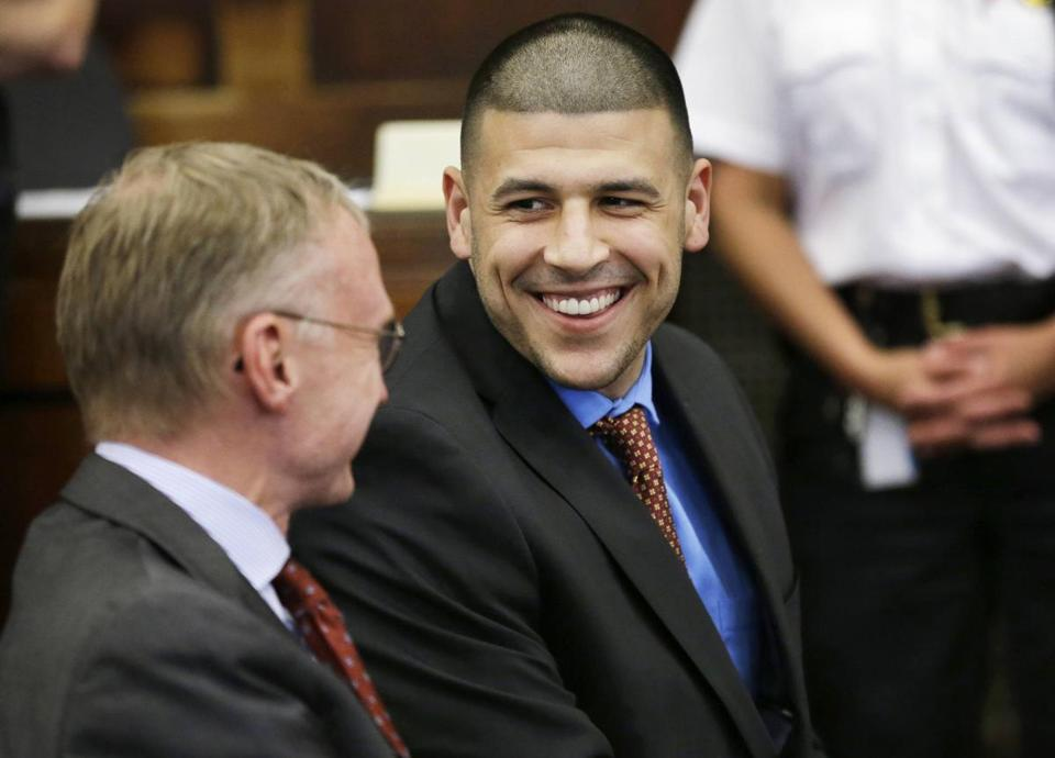 Aaron Hernandez, shown in a file photo, has been at Bristol County jail since 2013.