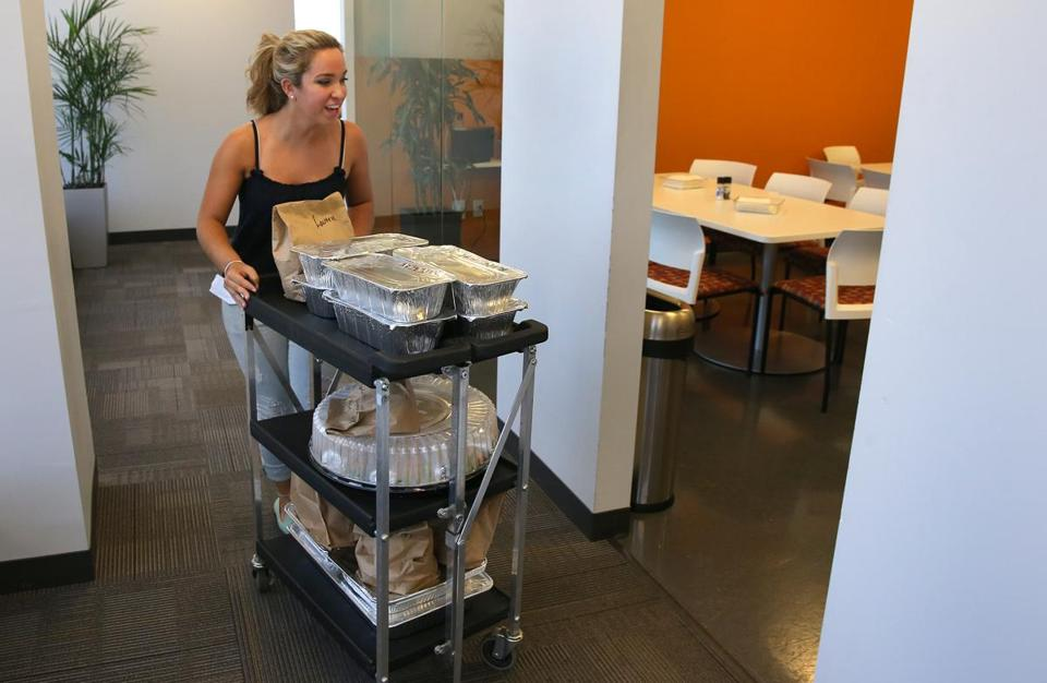 Paloma Sierra of El Pelon delivered Wednesday lunch, arranged by Phoodeez, to e-mail analytics firm Litmus.