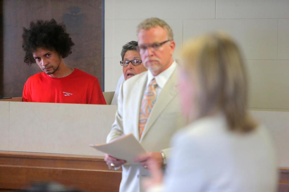 Luis Diaz was arraigned in Suffolk Superior Court Thursday in the slaying of Orlando Guerrero in 2012.