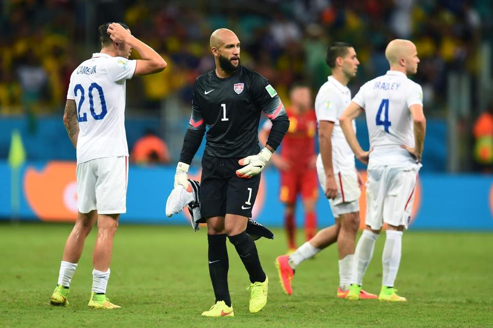 Tim Howard and the United States men's soccer team couldn't advance past the second round for the second straight World Cup.