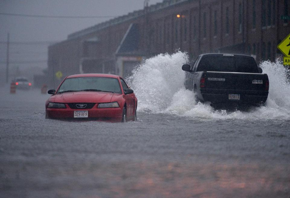 Some of the heaviest rain in the state hit the New Bedford area Friday.
