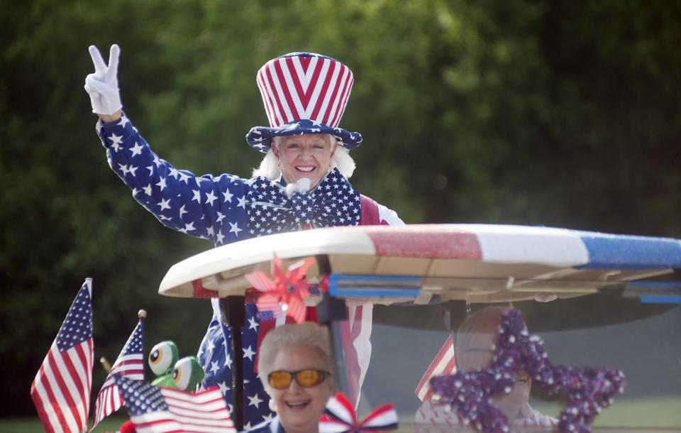 The Meadow Lake Senior Living Community in Tyler, Texas, held its annual Fourth of July golf cart parade on Friday.