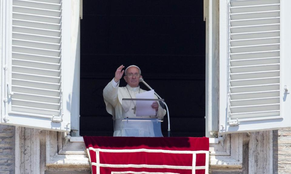 Pope Francis celebrated the Angelus noon prayer earlier this month.