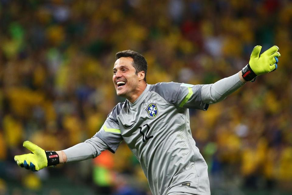 Brazilian goalkeeper Julio Cesar will have his work cut out for him as his sqaud faces Germany in the semifinals.