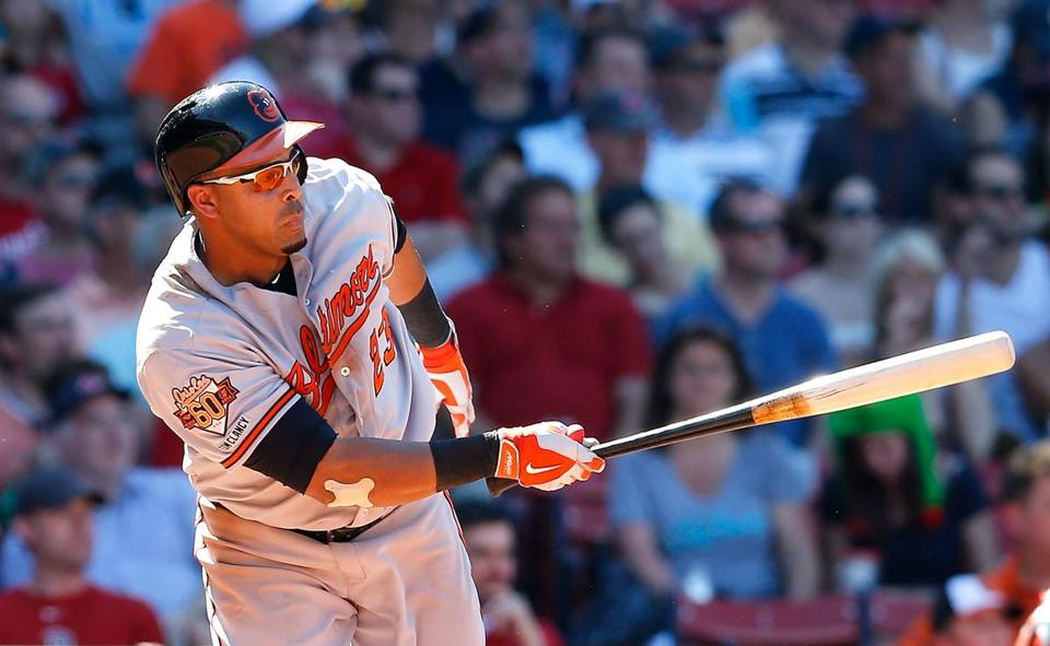 Nelson Cruz singled in a run in the seventh inning Sunday.