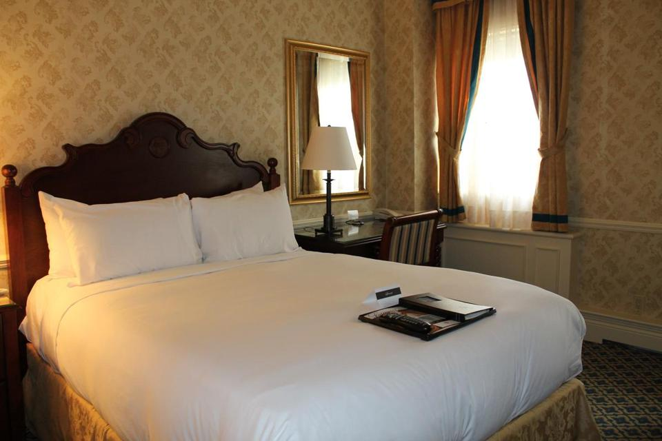 A double room in the hotel's classic style.