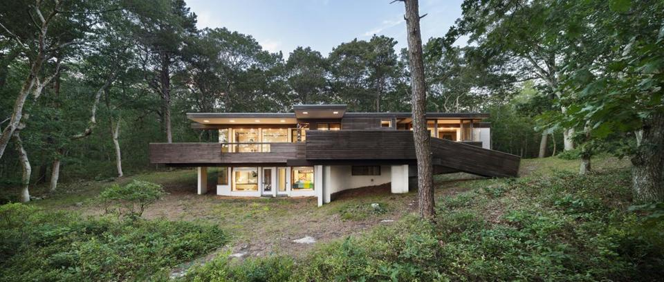 Charles Zehnder's Kugel/Gips House in Wellfleet, built in 1970.