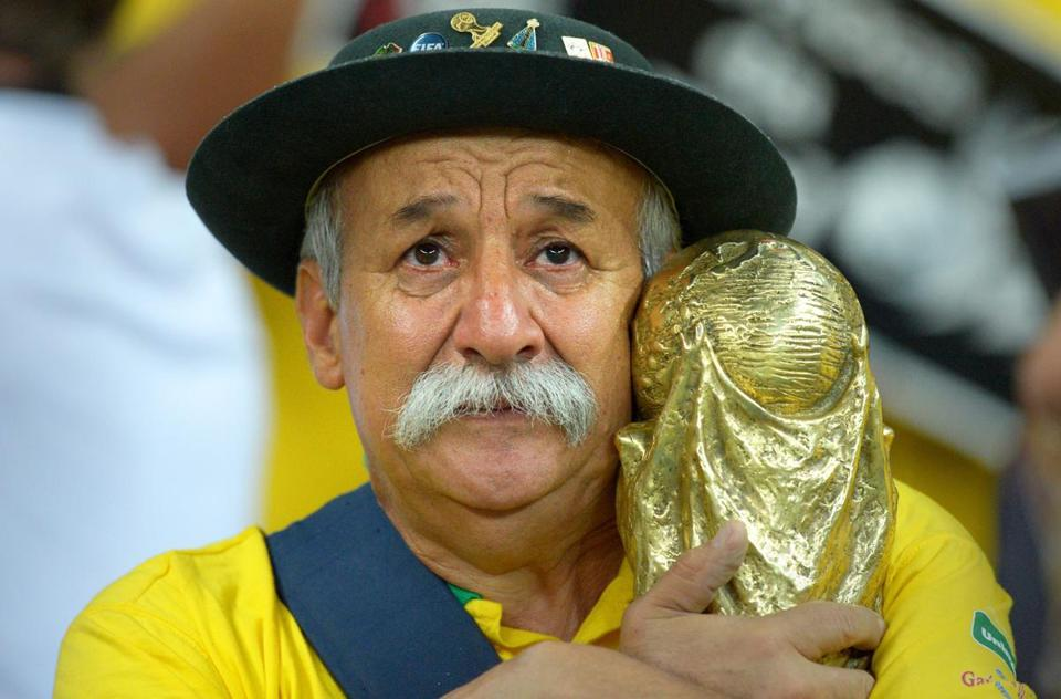 Despite his grief at Brazil's loss, superfan Clóvis Fernandes was gracious to Germans in the stands.