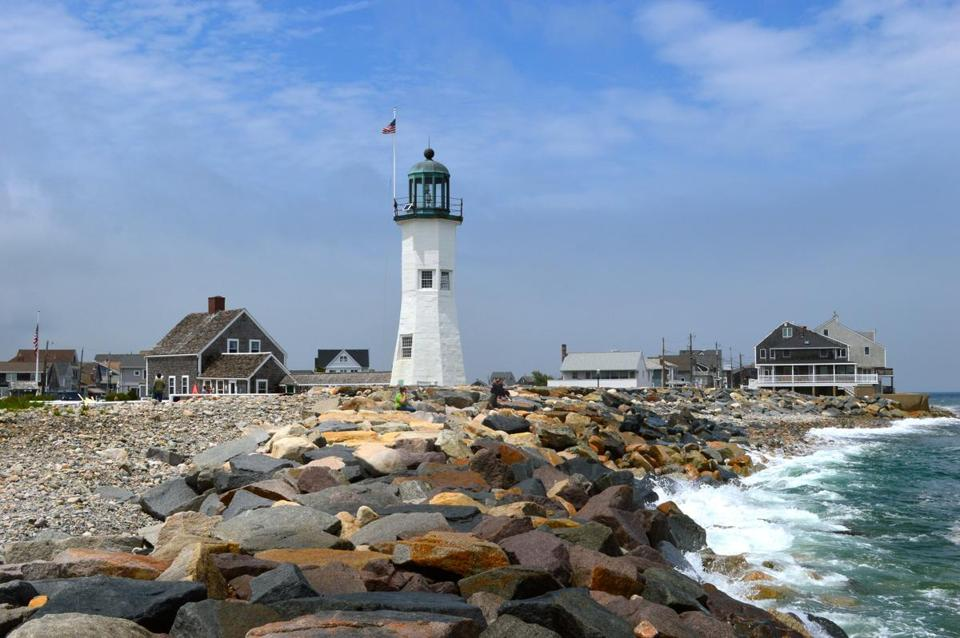 Scituate Lighthouse (pictured) and Lawson Tower are Scituate landmarks with grand views.