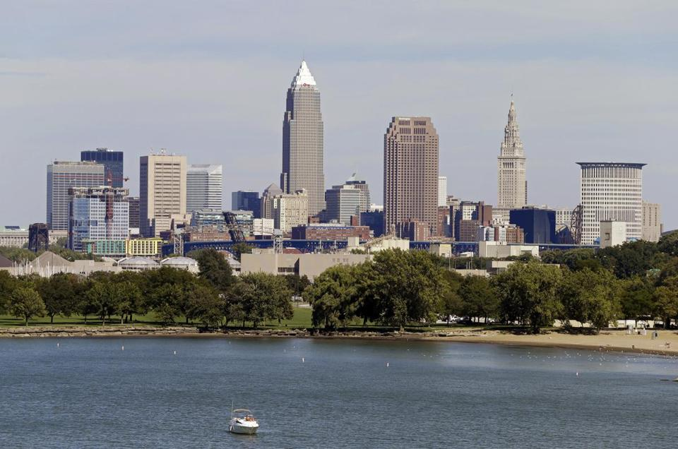 Cleveland, as seen from Edgewater Park, won the backing of a Republican National Committee panel all but guaranteeing the GOP's 2016 presidential pick will accept the party's nomination in perennially hard-fought Ohio.