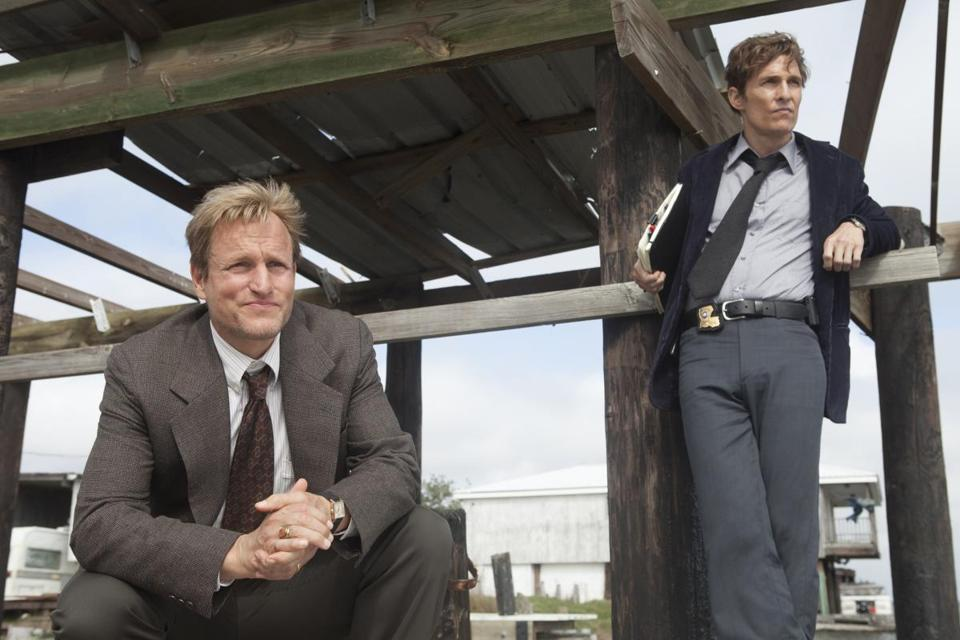 "Woody Harrelson (left) and Matthew McConaughey starred in the HBO series ""True Detective."" Home Box Office is a subsidiary of Time Warner."