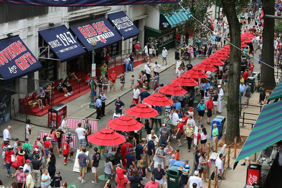 The 2013 deal gave the Red Sox permanent use of Yawkey Way on game days and air rights over Lansdowne Street.