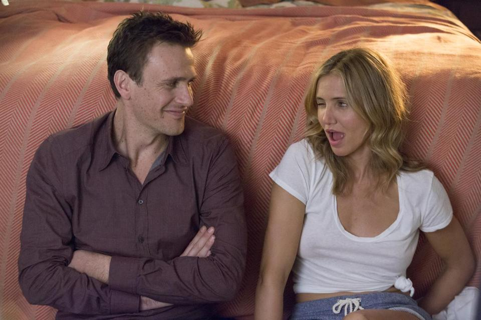 "Jason Segel and Cameron Diaz in the Boston area-filmed ""Sex Tape."""