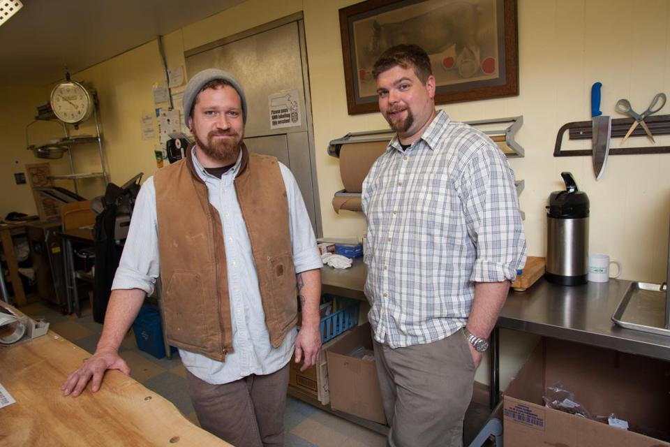 Jazu Stine (left) and James Burden, co-owners of Red Apple Butchers in Dalton.