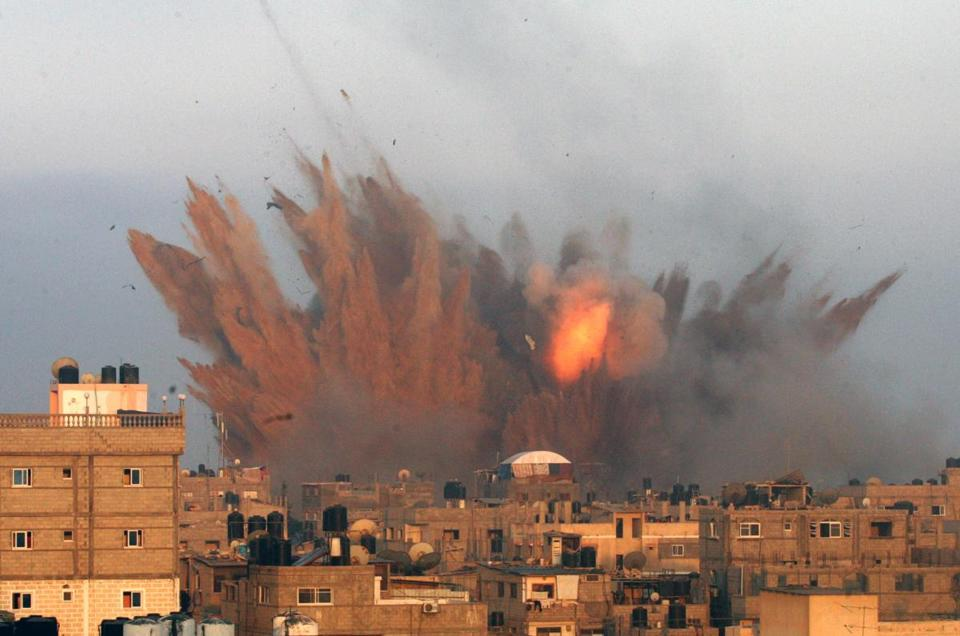 The intensity of Israel's aerial attacks against Gaza has been double that of the eight-day round of fighting in 2012.