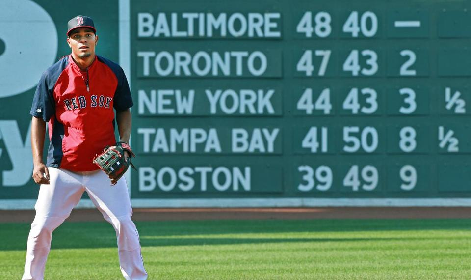 Xander Bogaerts and the Red Sox have spent too much time at the bottom of the AL East this season.