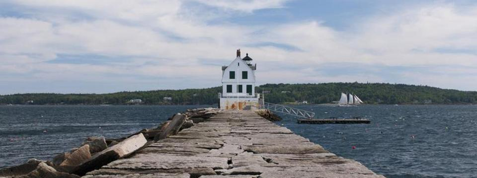 Breakwater Light in Rockland Harbor.