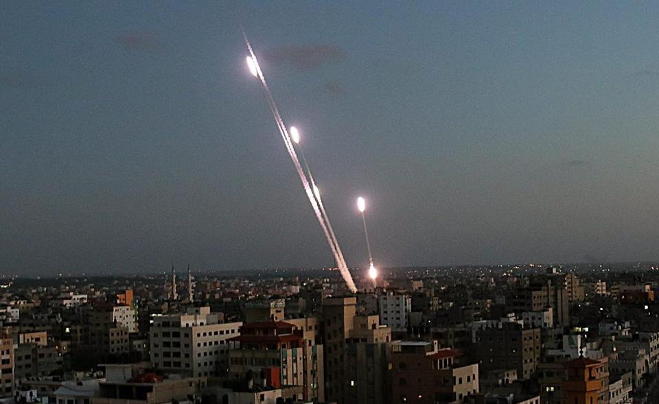 Six rockets were launched from Gaza into Israel on Sunday.