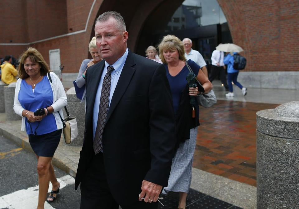 John O'Brien left the courthouse this week.