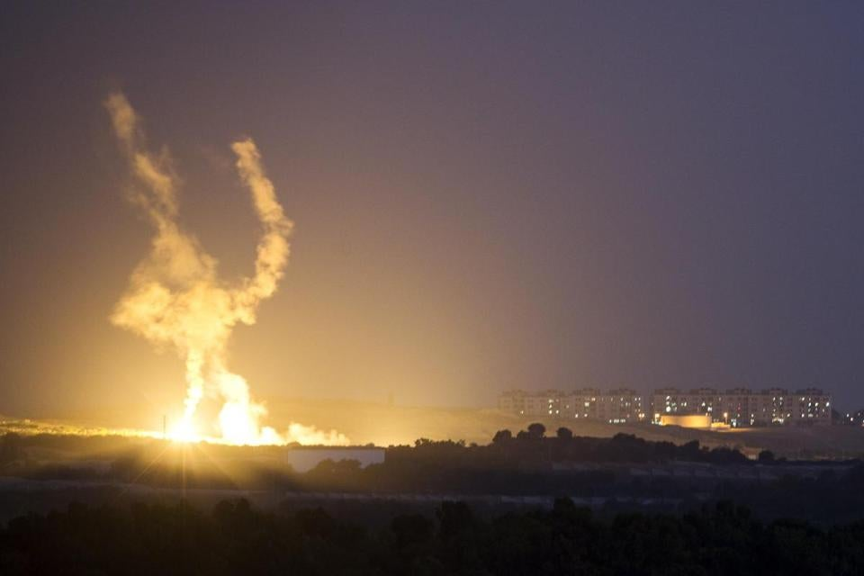 An Israeli rocket was fired into the Gaza Strip on Thursday.