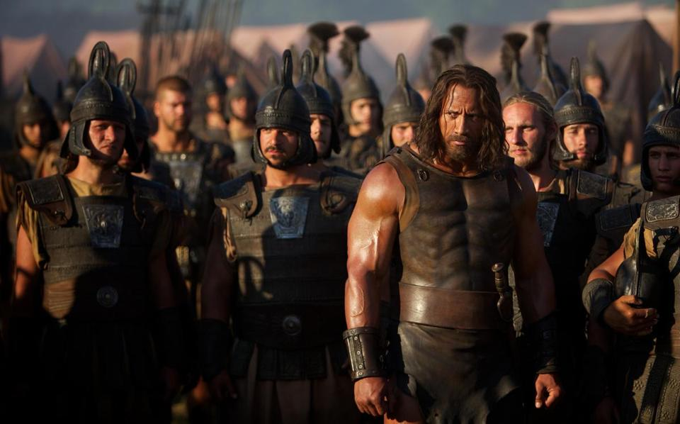"Dwayne Johnson (right) plays the lead in ""Hercules,"" an adaptation of a comic book based on mythology."