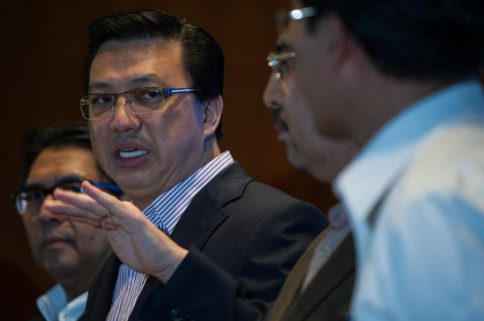 Malaysian Transport Minister Liow Tiong Lai addressed the media Saturday at a news conference.