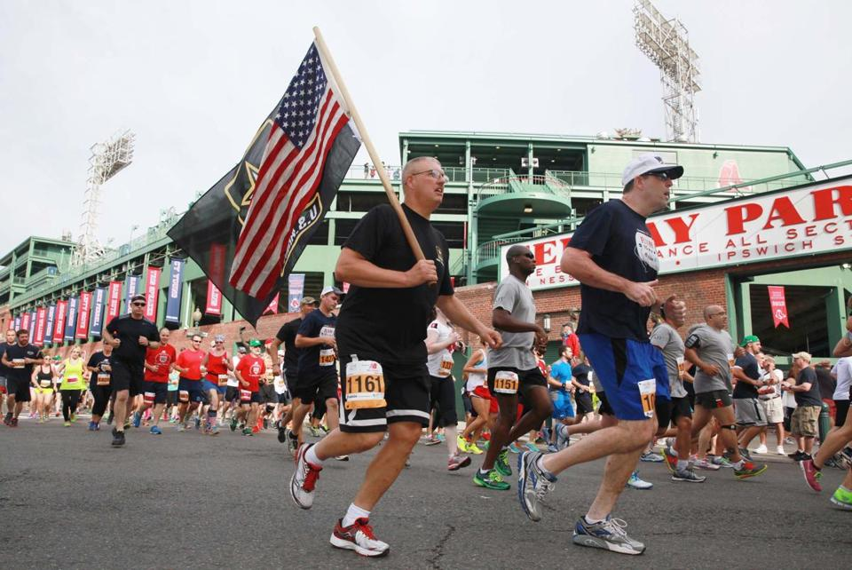 More than 2,000 people participated in this year's Run to Home Base outside Fenway Park on Saturday.